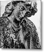 The Lady In Mourning 03 Bw Metal Print