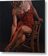 The Lady In Red Metal Print