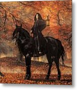 The Lady Of Halloween Metal Print