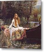 The Lady Of Shallot Metal Print by John William Waterhouse