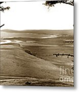The Lagoon At The Mouth Of The Carmel River  From Fish Ranch California 1905 Metal Print