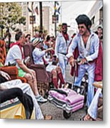 The Laissez Boys At Running Of The Bulls In New Orleans Metal Print