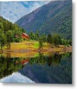 The Lake House Norway Metal Print
