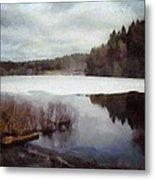 The Lake In My Little Village Metal Print by Gun Legler
