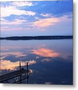 The Lake Is A Mirror Metal Print