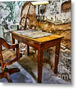 The Lamp And The Chair Metal Print