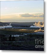 The Land Of Geysers. Yellowstone Metal Print