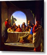 The Last Supper By Carl Heinrich Bloch Metal Print