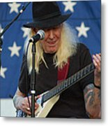 The Late Great Johnny Winter Metal Print
