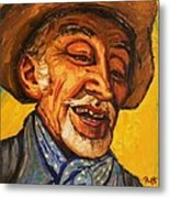 The Laughing Cavalier Metal Print