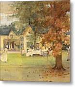 The Lawn Tennis Party Metal Print by Arthur Melville