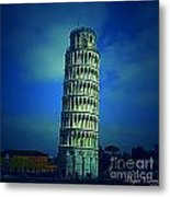The Leaning Tower Of Pisa Italy Metal Print