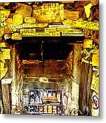 The Leather Shop Fireplace Metal Print