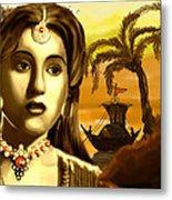 The Legend Actress Madhubala Metal Print