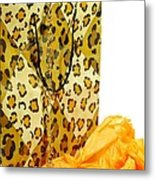 The Leopard Gift Bag Metal Print by Diana Angstadt
