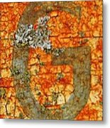 The Letter G With Lichens Metal Print
