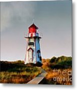 The Light At Covehead Harbour Metal Print