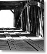 The Light At The End Of The Bridge Metal Print