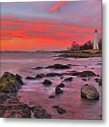 The Light House In New Haven Metal Print