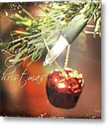 The Light Of Christmas Metal Print