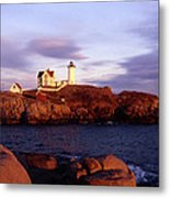 The Light On The Nubble Metal Print by Skip Willits