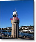 The Lighthouse And Fishing Harbour Metal Print