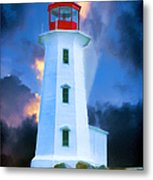 The Lighthouse At Peggys Cove Metal Print