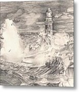 The Lighthouse Metal Print by Beverly Marshall