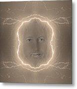 The Lightning Man Sepia Metal Print