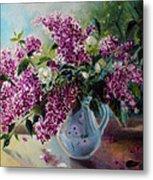 The Lilac On The Window Metal Print