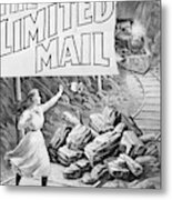 The Limited Mail, 1899 Metal Print