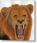 The Lion's Roar Metal Print by Bav Patel