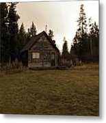 The Little Cabin In The Woods Metal Print