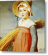 The Little Gleaner Metal Print