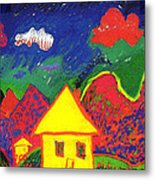 The Little House In The Montains Metal Print