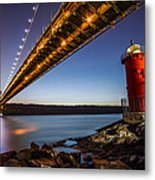 The Little Red Lighthouse Metal Print