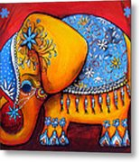 The Littlest Elephant Metal Print