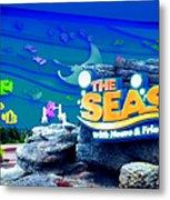 The Living Seas Signage Walt Disney World Metal Print