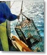 The Lobsterman Metal Print by Michelle Calkins