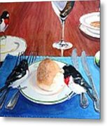 The Local Lunch Crowd Metal Print