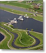 The Lock And Weir Complex Amerongen Metal Print