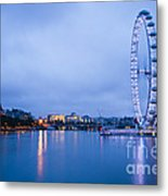 The London Eye Dawn Light Metal Print by Donald Davis