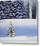 The Lone Christmas Tree Metal Print
