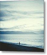 The Lonely Fisherman Metal Print