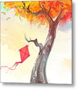 The Lonely Kite Metal Print