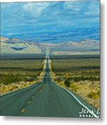 The Long Road Through Death Valley Metal Print