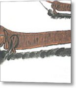 The Longest Dog In The World Metal Print