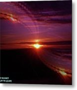 The Longest Sunset Metal Print