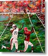 The Longest Yard - Alabama Vs Auburn Football Metal Print by Mark Moore