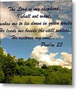 The Lord Is My Shepard Metal Print